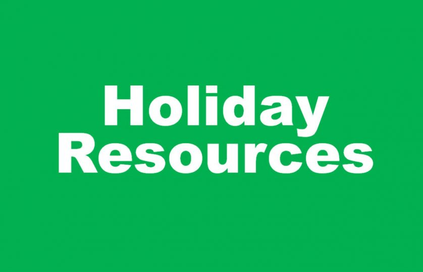 holiday resources graphic